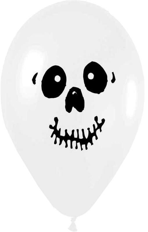 """12"""" Μπαλόνι μεγάλο τυπωμένο Κρανίο"""