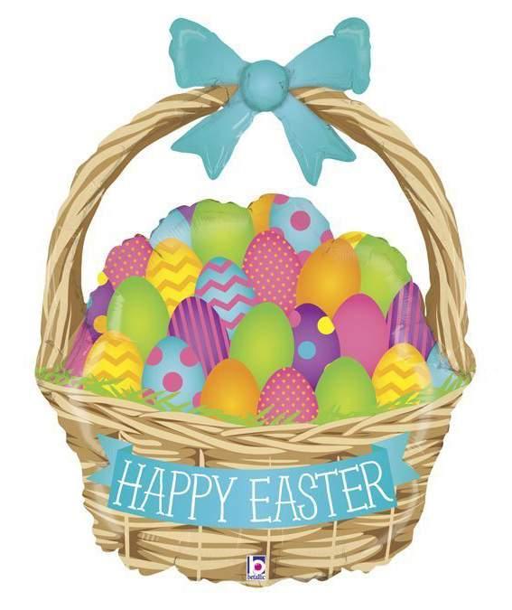 """Μπαλόνι Πασχαλινό Καλάθι """"Happy Easter"""""""