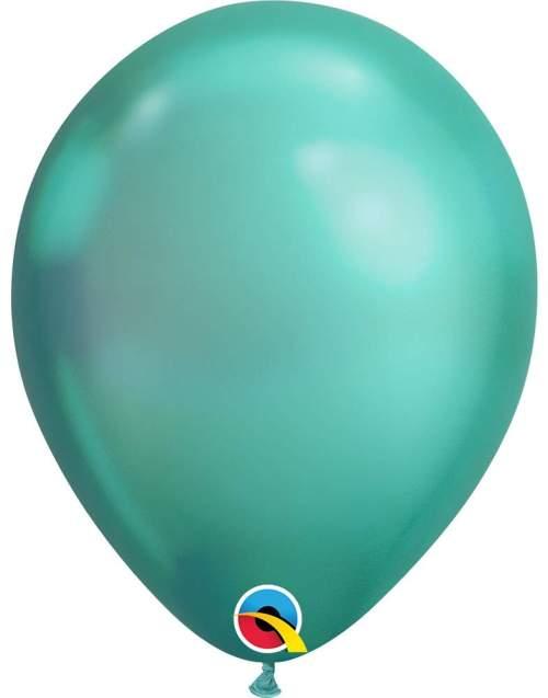 11'' Chrome Πράσινο λάτεξ μπαλόνι