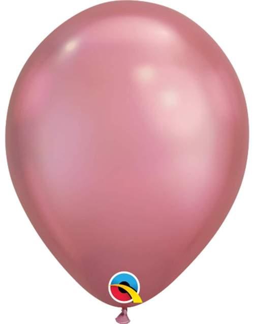 11'' Chrome Ροζ λάτεξ μπαλόνι