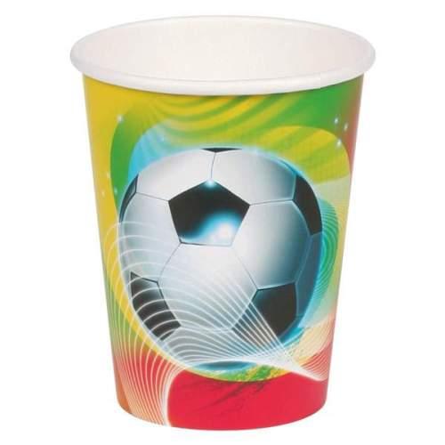Ποτήρια πάρτυ χάρτινα ποδόσφαιρο (8 τεμ)