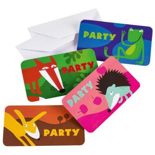 Προσκλητήρια πάρτυ Ζωάκια του δάσους με φάκελο (8 τεμ)