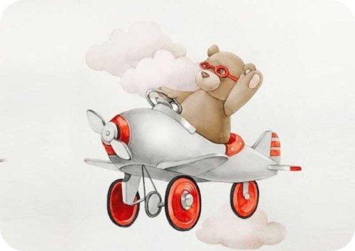 Σουπλά τραπεζιού Αρκουδάκι & Αεροπλανάκι