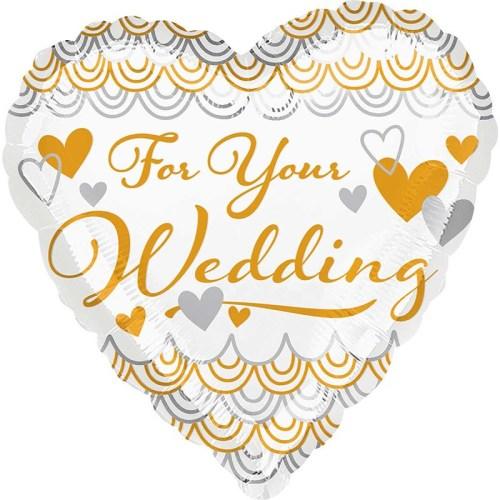 Μπαλόνι Καρδιά 'For your Wedding' 45 εκ