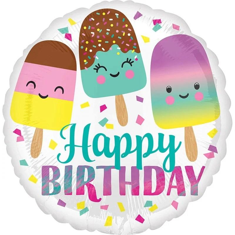 Μπαλόνι για γενέθλια Παγωτάκια Happy Birthday