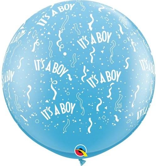 """36"""" μπαλόνι τυπωμένο It's a Boy με κονφετί"""
