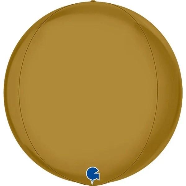 Μπαλόνι σατέν χρυσό τρισδιάστατη σφαίρα ORBZ
