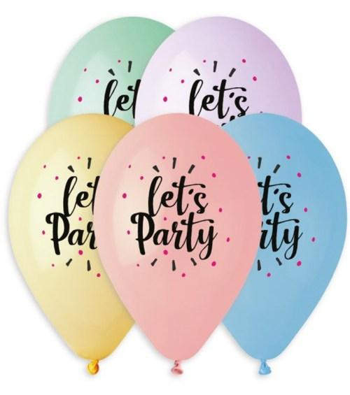 """12"""" Μπαλόνι Let's Party παστέλ αποχρώσεις"""