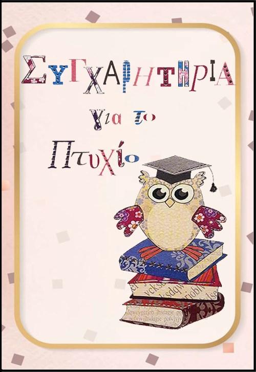 Ευχετήρια Κάρτα για Αποφοίτηση (σχέδιο 10)