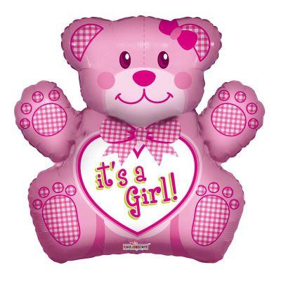 Μπαλόνι γέννησης baby girl αρκουδάκι