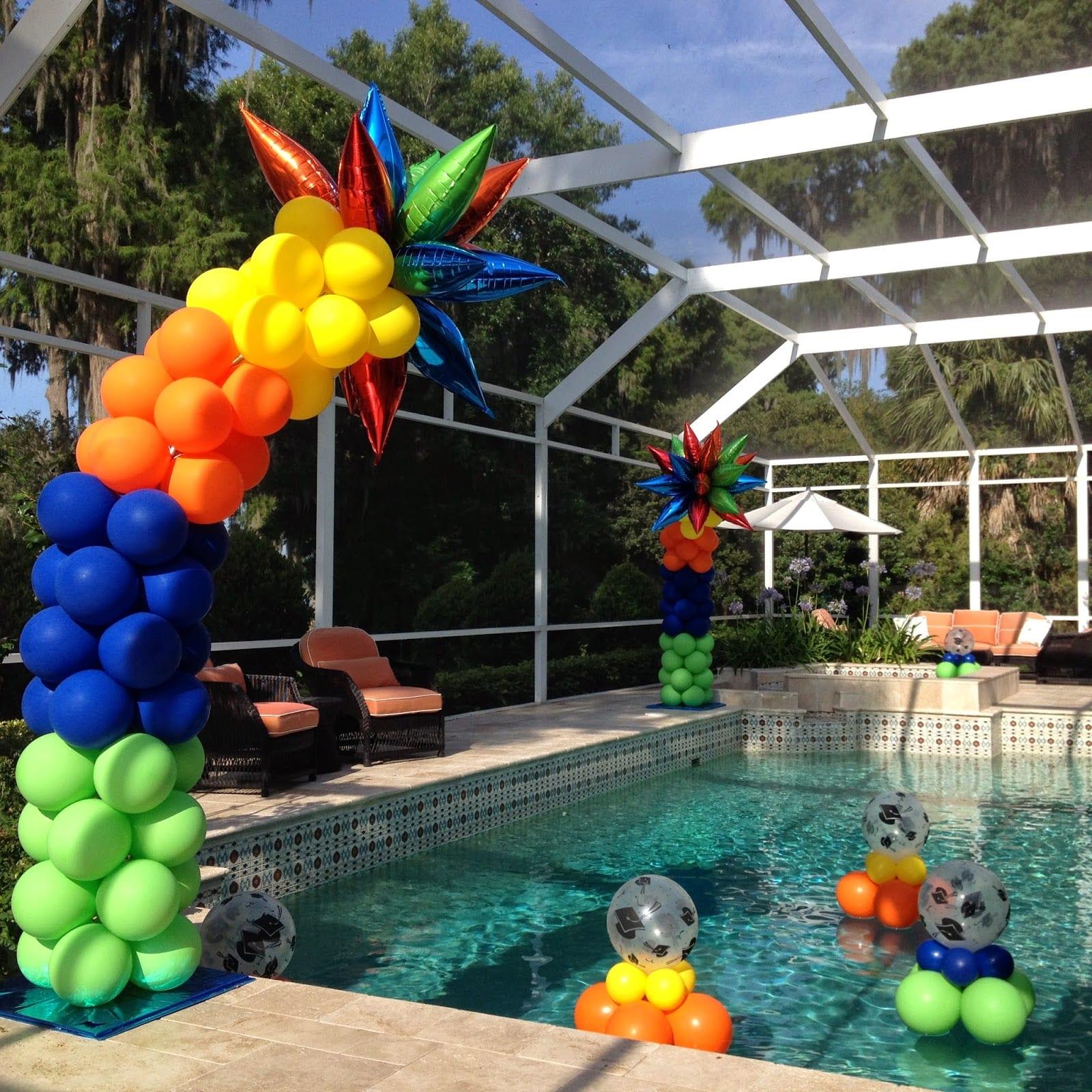 pool balloon decor tips
