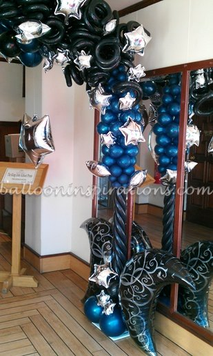 Starry Night themed prom party decorations in London