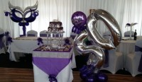 50th Birthday Party balloon decorations ...