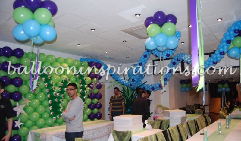 Balloon decoration ideas for birthday party at home in for Home decorations with balloons