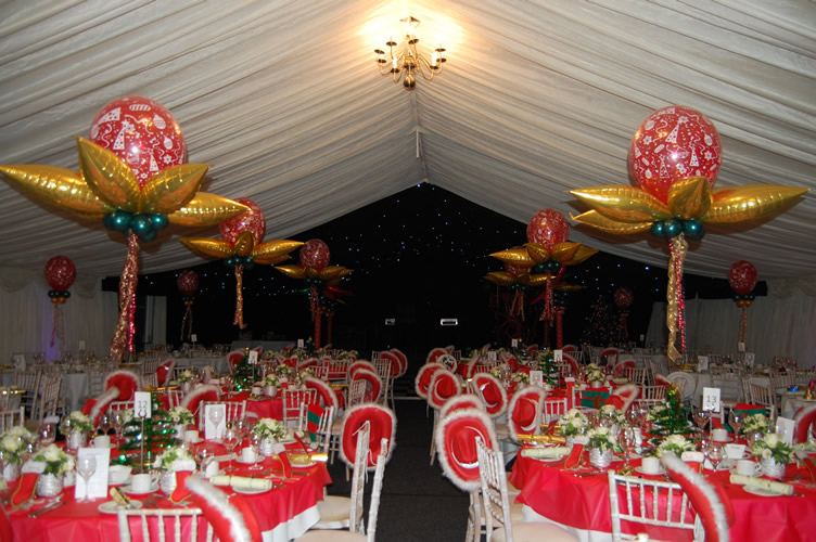 corporate christmas party decorations shared venue