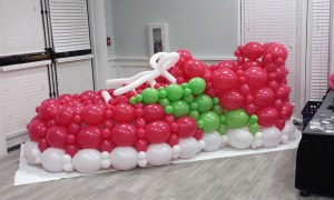 Balloon shoe for sorority Rush Week, by Balloonopolis, Columbia, Sc