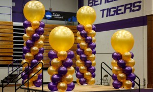 Purple and Gold, 3ft. Topper, Balloon Columns, by Balloonopolis, Columbia, SC
