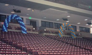 Sorority Bid Day balloon arches, by Balloonopolis, Columbia, SC