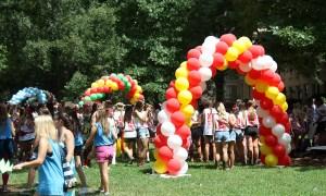 Sorority Bid Day, balloon arches, by Balloonopolis, Columbia, SC
