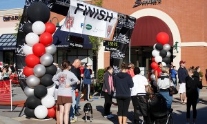 Palmetto Half-Marathon Finish Line Outdoor Columns, by Balloonopolis, Columbia, SC