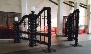 Black Balloon Gate, by Balloonopolis, Columbia, SC