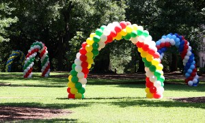 Sorority Bid Day, outdoor balloon arches, by Balloonopolis, Columbia, SC