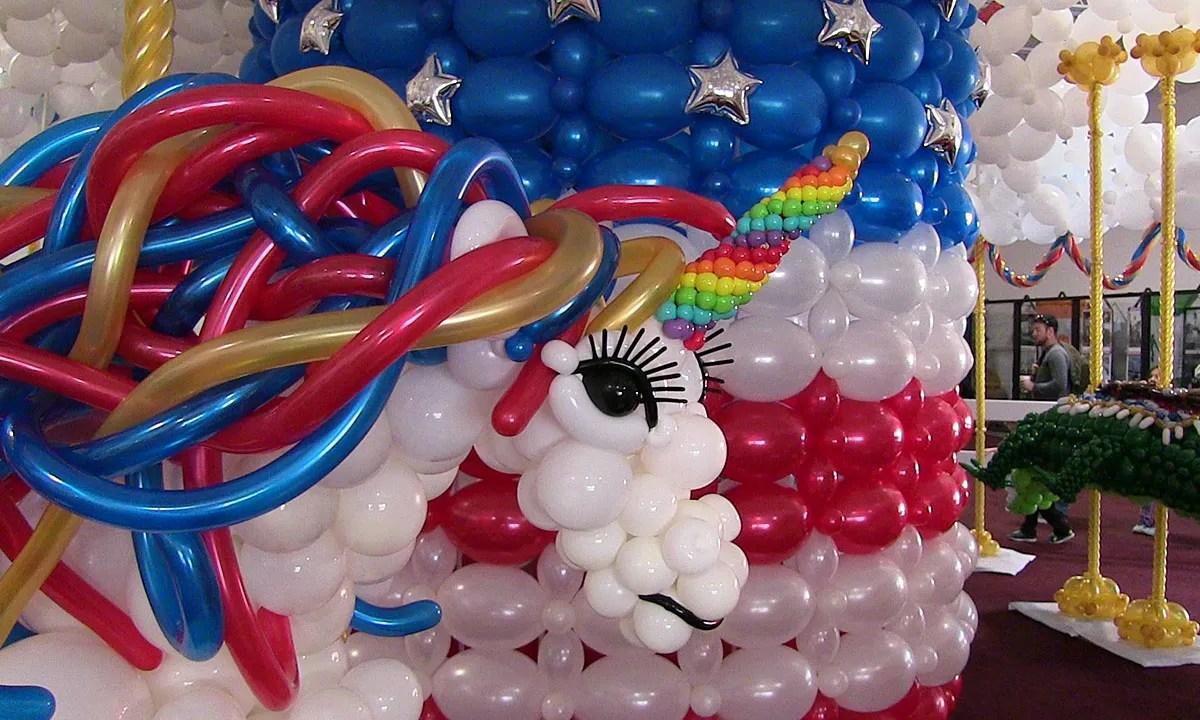 Balloon unicorn, State Fair of Florida, by Balloonopolis, Columbia, SC - State Fairs