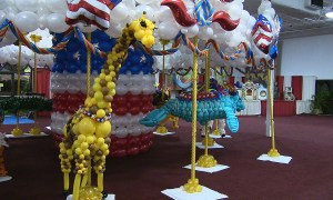 Balloon giraffe, State Fair of Florida, by Balloonopolis, Columbia, SC