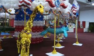 Balloon giraffe, State Fair of Florida, by Balloonopolis, Columbia, SC