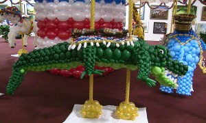 Balloon alligator, State Fair of Florida, by Balloonopolis, Columbia, SC