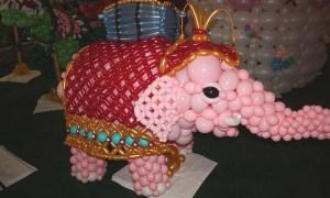 Balloon elephant, balloon carousel, State Fair of South Carolina, by Balloonopolis, Columbia, SC