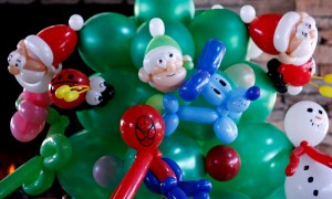 Detail of Christmas Balloonopolis Giving Tree, by Balloonopolis, Columbia, SC