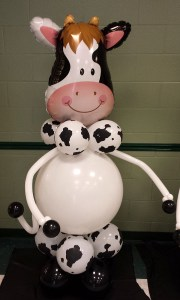 6ft. Cow Balloon Greeter, by Balloonopolis, Columbia, SC - Balloon Greeters