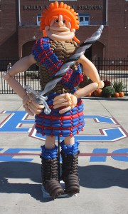 Custom Balloon Sculpture - PC College Mascot - Balloonopolis, Columbia, SC