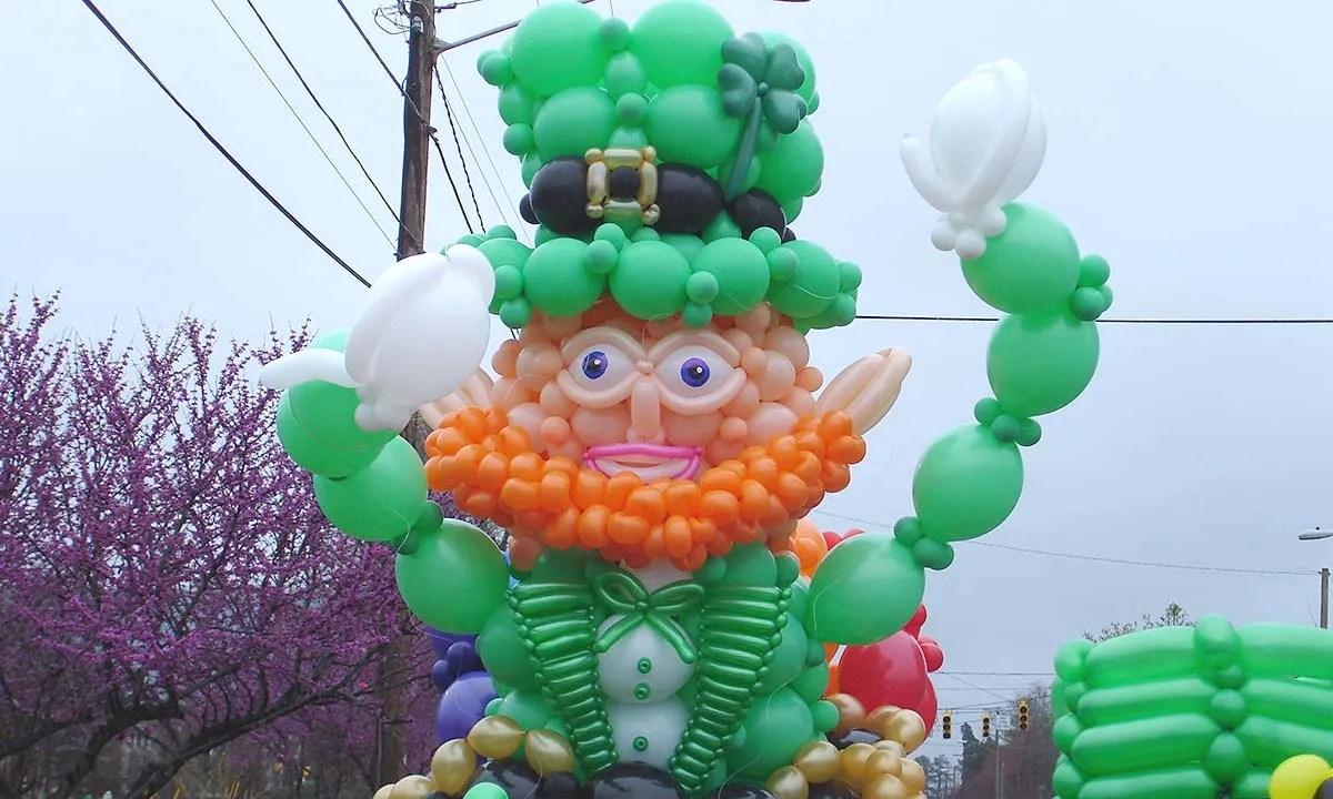 Giant Balloon Leprechaun, by Balloonopolis, Columbia, SC
