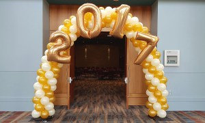 2017 balloon arch, Balloon Numbers and Letters, by Balloonopolis, Columbia, SC
