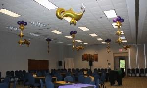 Arabian Nights Prom theme, balloon genie lamp, by Balloonopolis, Columbia, SC