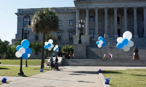 Floating Balloon Clouds on the State House lawn, by Balloonopolis, Columbia, SC