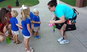 Making balloon animals at Presbyterian College's home football games, Balloonopolis, Columbia, SC