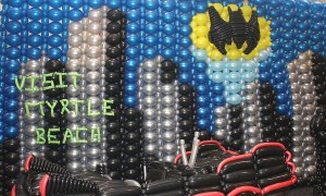 Calling Batman Balloon Wall, by Balloonopolis, Columbia, SC
