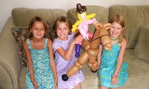 Girls with Balloon Cowgirl, by Balloonopolis, Columbia, SC - Birthday Parties