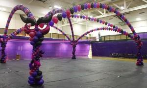 Mardi Gras balloon dance floor for Prom, by Balloonopolis, Columbia, SC