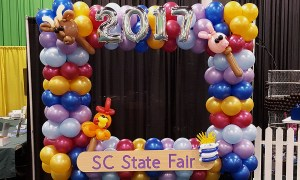 Balloon Photo Frame at the 2017 SC State Fair, by Balloonopolis, Columbia, South Carolina - Photo Frames