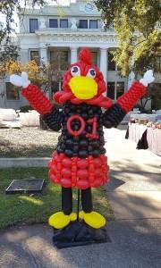 South Carolina mascot balloon Greeter, by Balloonopolis, Columbia, South Carolina - Balloon Greeters