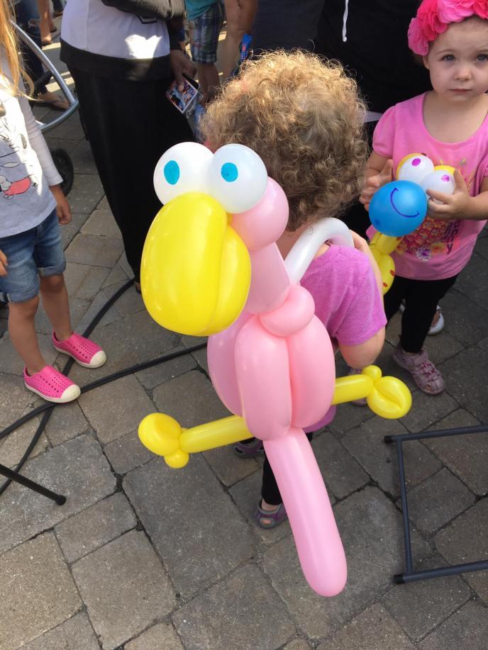 Balloon Flamingo Backpack