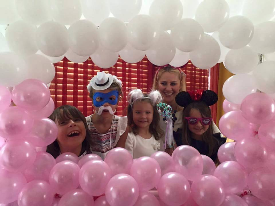 Pink and White Balloon Frame