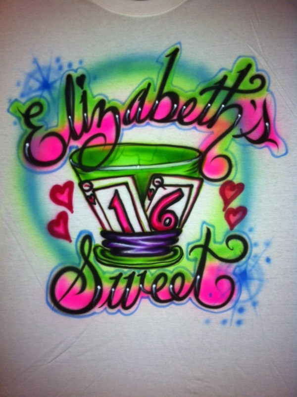Alice In Wonderland Airbrush T Shirt Balloonscapes'