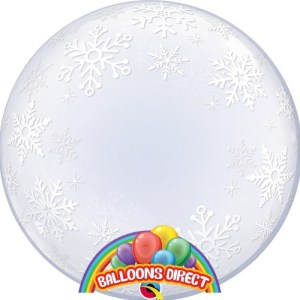 """custom 22"""" snowflakes bubble balloon from balloons direct"""