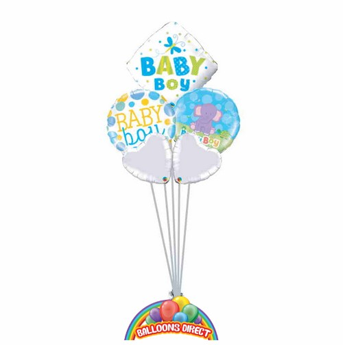 Our welcome baby boy deluxe balloon bouquet from balloonsdirect.ie