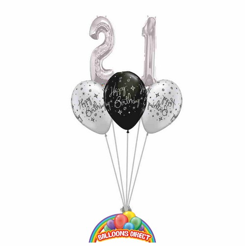 21st birthday balloon bouquet from balloonsdirect.ie
